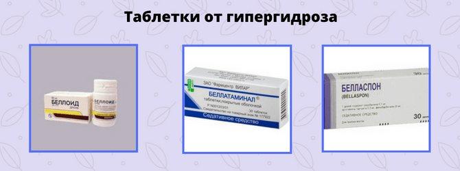 Таблетки от гипергидроза