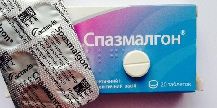Таблетки Спазмалгона в упаковке