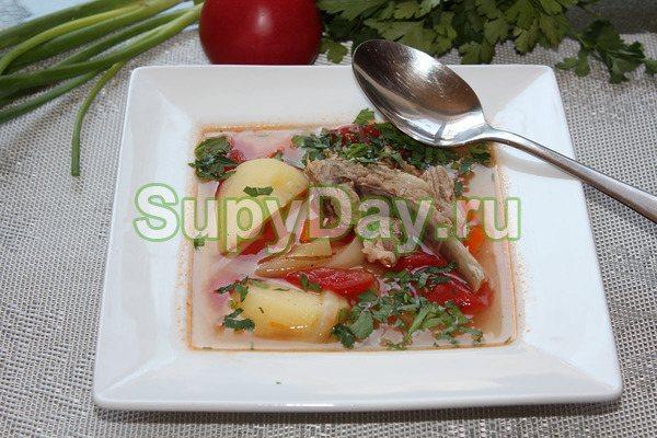 Татарская шурпа - сытное, необыкновенно ароматное блюдо с большим количеством разнообразных специй