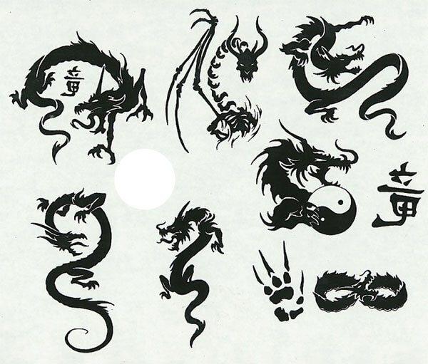 Тату - драконы (образцы)