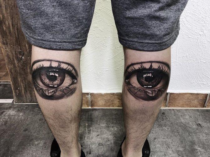 Тату Глаза и Слезы