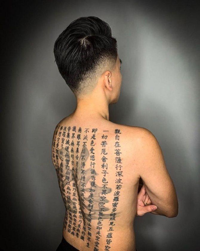 тату иероглифы с переводом на русский