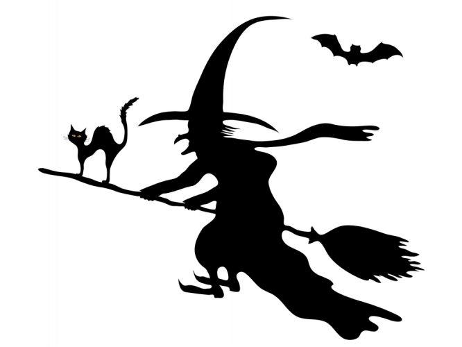Тату, кот и ведьма на метле