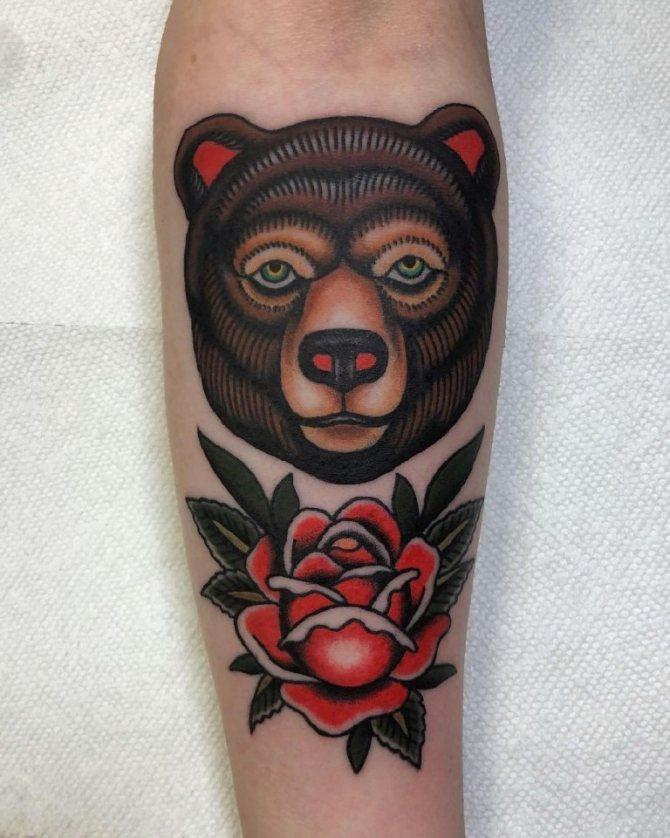 тату медведи