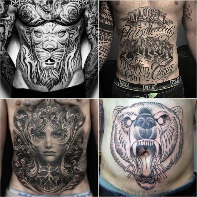 Тату на животе - Татуировка на животе - Тату Живот - Мужские тату на животе
