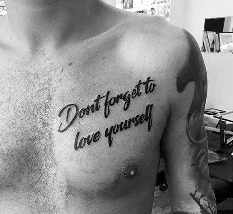 'Тату надпись про любовь -
