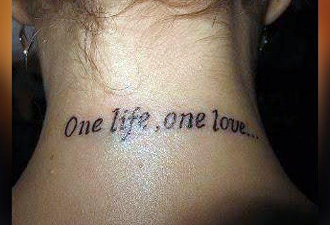 Тату одна жизнь одна любовь