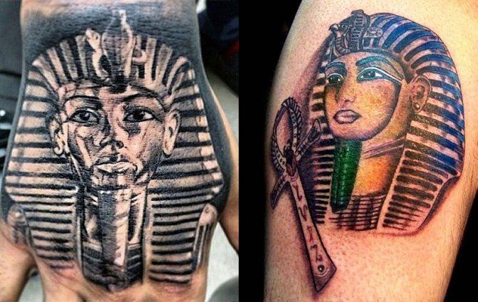 Тату с фараонами
