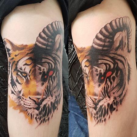 Тату с тигром, Crazy Tattoo