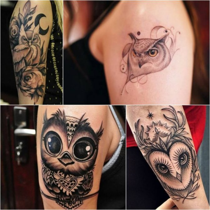 Тату Сова - Тату Сова для Девушек - Женские Татуировки с Совой
