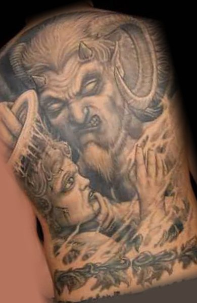 Татуировка демона или дьявола?