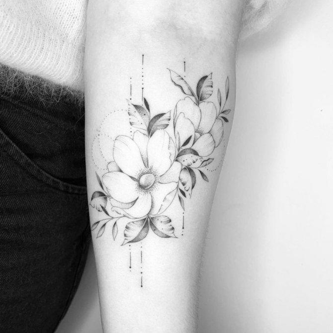 татуировка дотворк