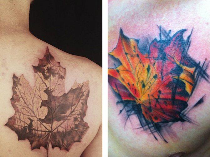 Татуировка кленовый лист и ее значение