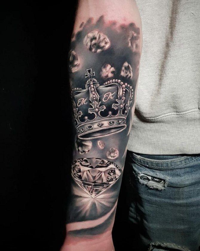 татуировка корона на руке значение