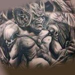 Татуировка крылатого демона