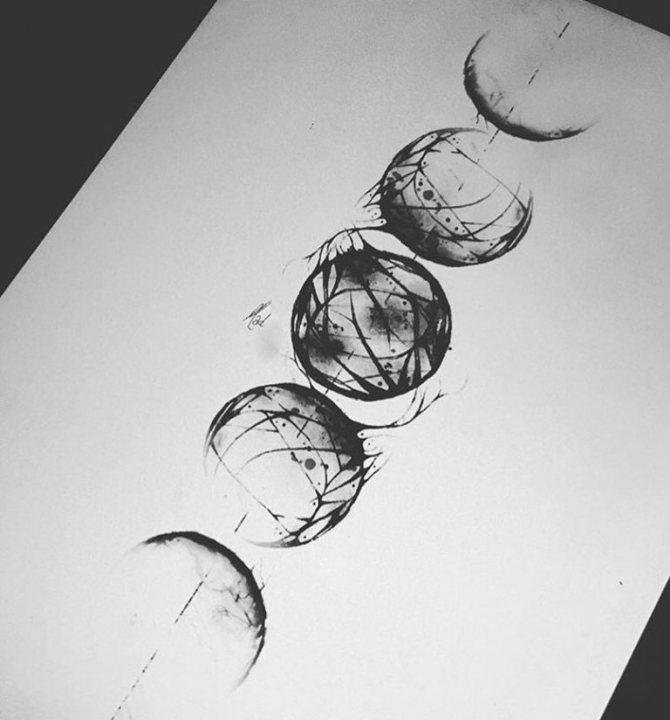татуировка луна значение