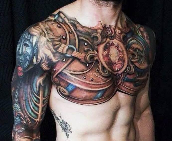 татуировка на груди у мужчины