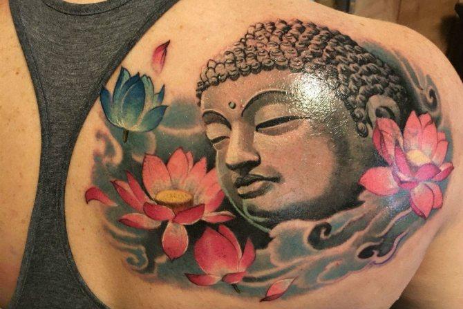 татуировка с буддой