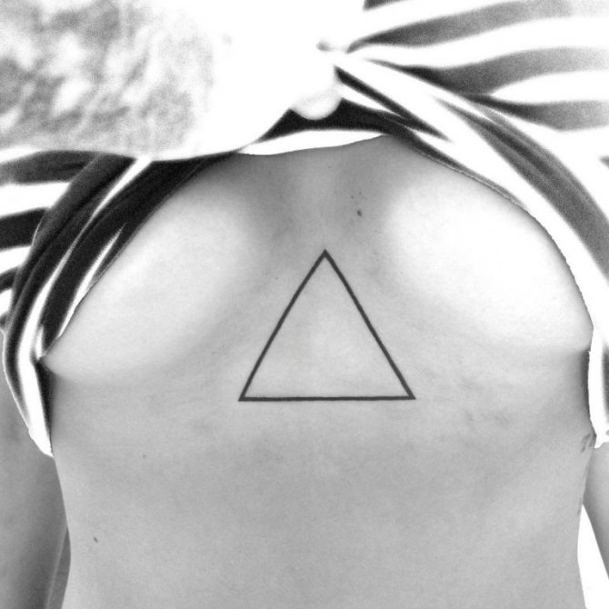 татуировка треугольник значение