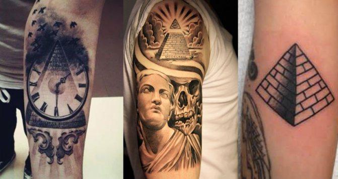 Татуировки с пирамидой