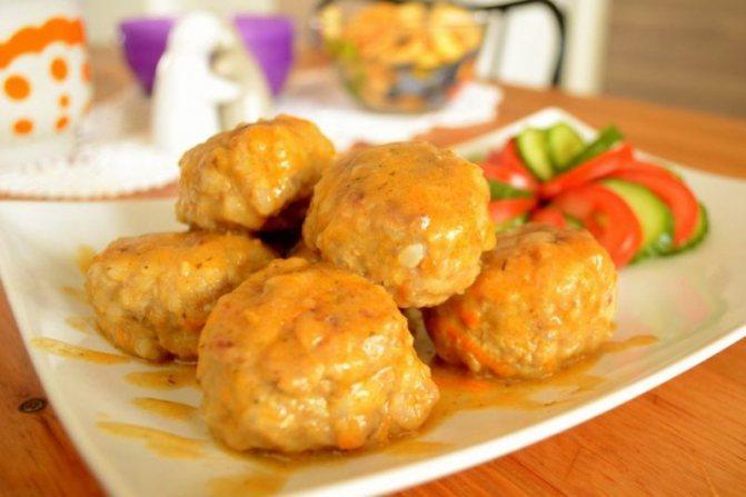 Тефтели из индейки с манной крупой (самостоятельное блюдо для детского меню) - Тефтели из индейки рецепты приготовления