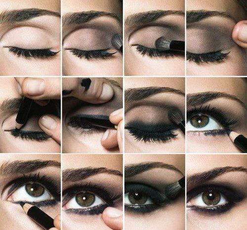 техника дымчатого макияжа глаз