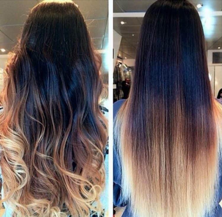 Техника окрашивания волос омбре позволяет уберечь их от сильного воздействия краски, особенно когда дело касается темных волос.
