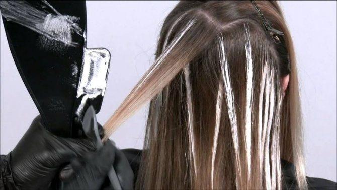 Техника выполнения окрашивания волос