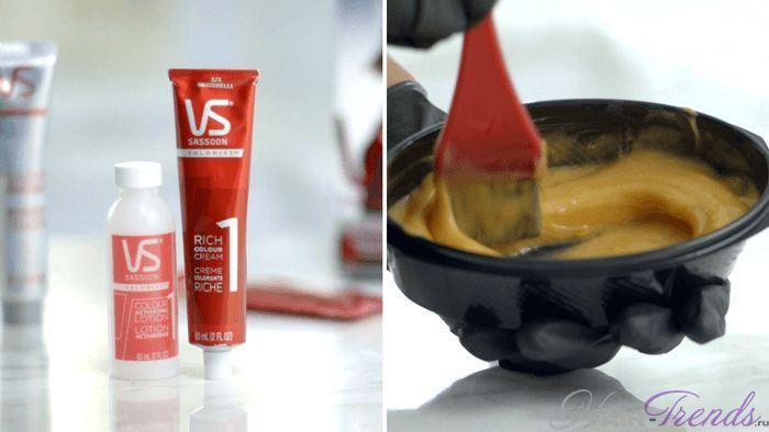 Технология окрашивания волос красителями 2 группы