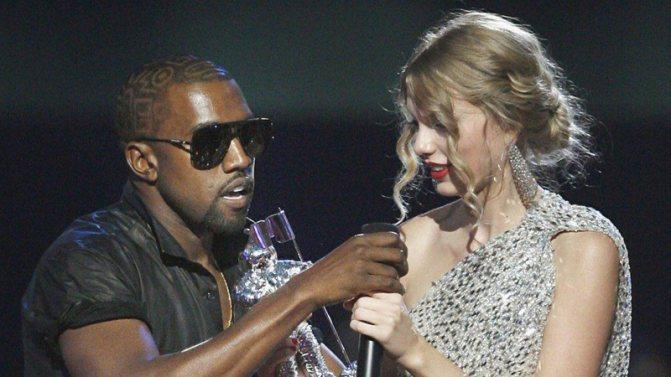 Тейлор Свифт и Канье Уэст: Церемония вручение премии MTV 2009 года