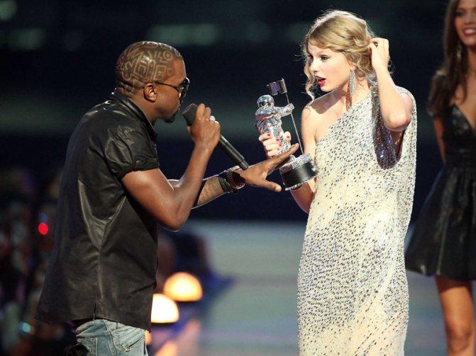 Тейлор Свифт и Канье Уэст: скандал на церемонии MTV 2009 года