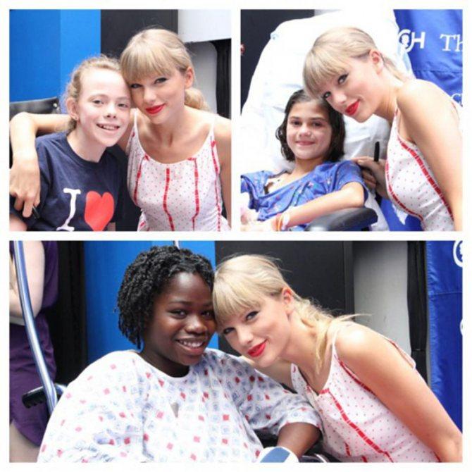 Тейлор занимается благотворительностью