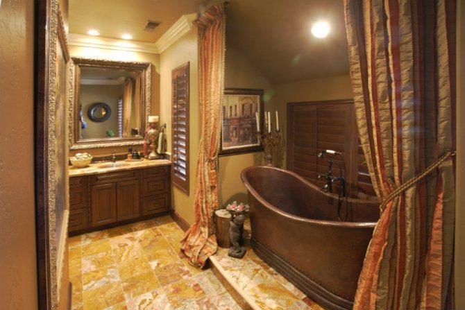 Темная бронза в ванной комнате