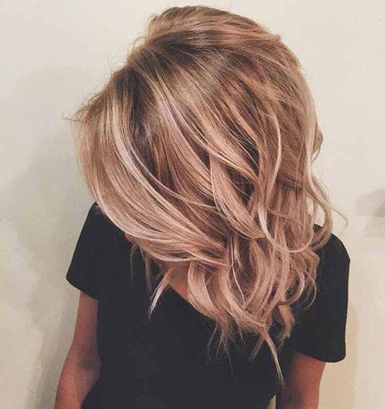 Темно-русые волосы блики