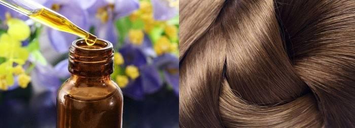 Темные волосы и масляной экстракт