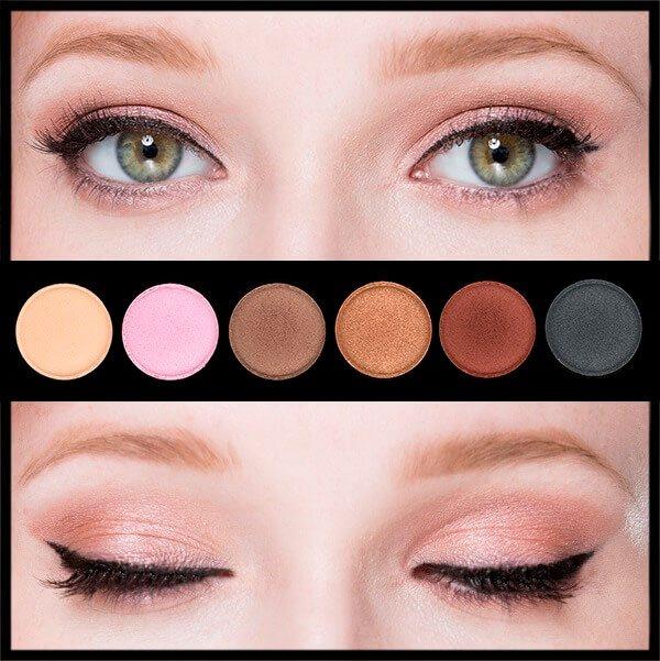 Тени для серых и серо-зеленых глаз