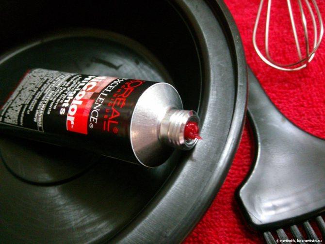 Термоядерный красный или ярко-красные волосы за одно окрашивание