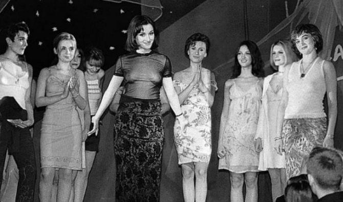Тина Канделаки на модном показе Morgan Manhattan