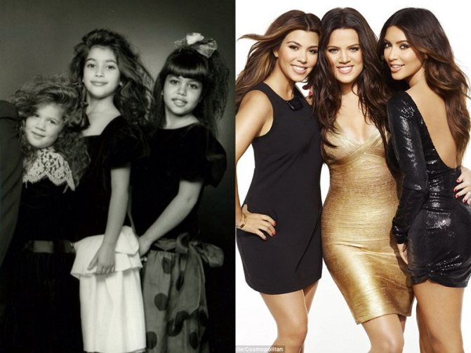 Тогда и сейчас: как менялись сёстры Дженнер-Кардашьян - фото