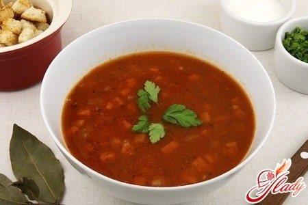 томатный фасолевый суп
