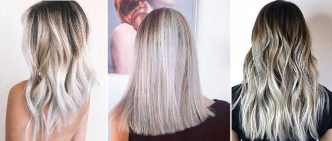 тонирование осветленных темных волос
