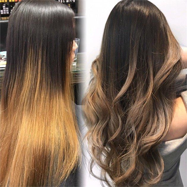 Тонировка обесцвеченных волос