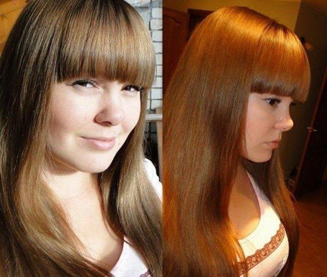 Тонировка русых волос