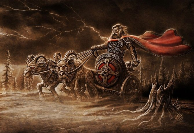 Тор в колеснице