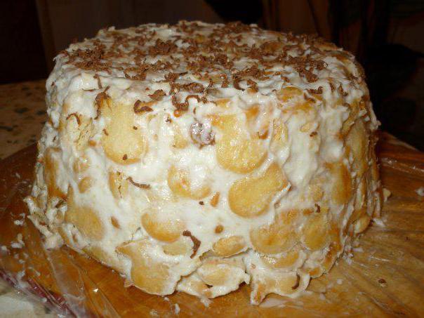 торт из рыбок крекеров со сгущенкой