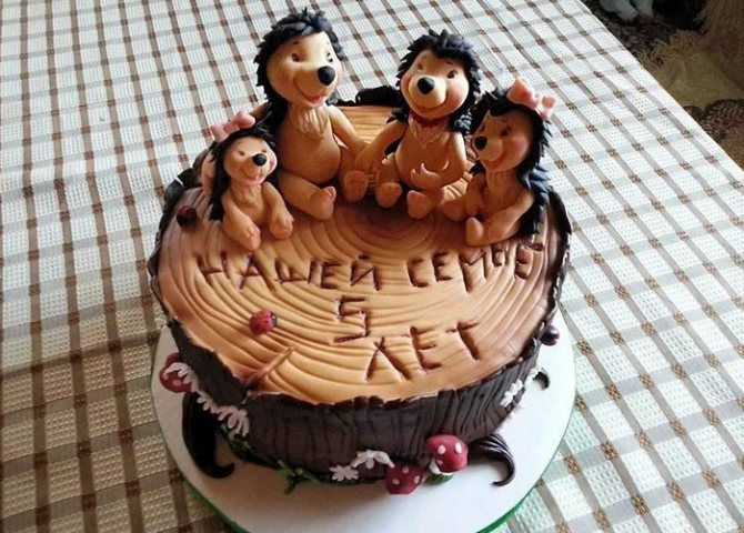 торт на пятилетие свадьбы