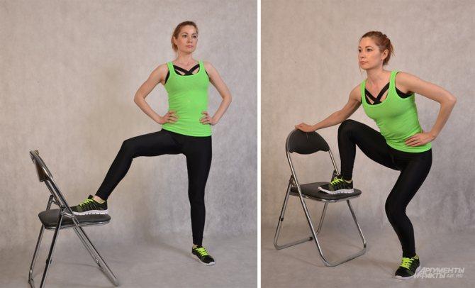 Тренировка со стулом