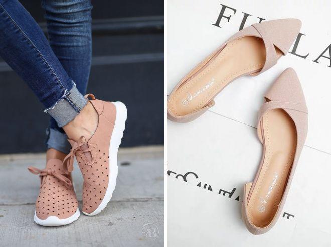 Туфли цвета пыльной розы