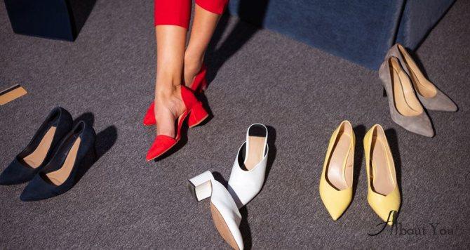 Туфли на среднем каблуке (7-9 сантиметров)