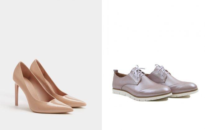 туфли перламутрового цвета